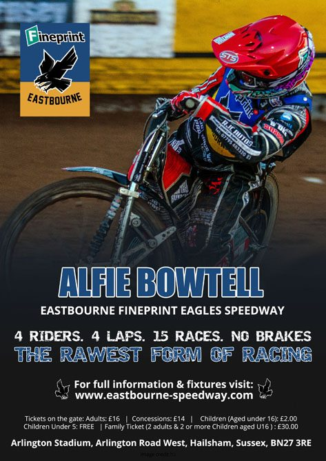 Alfie Bowtell- Eastbourne Fineprint Eagles Speedway