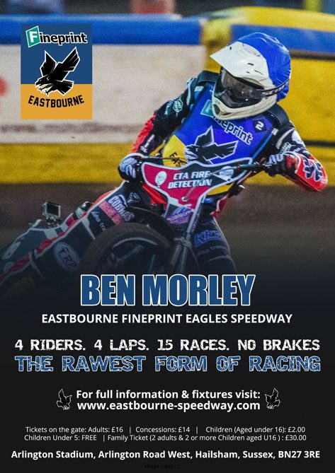 Ben Morley- Eastbourne Fineprint Eagles Speedway