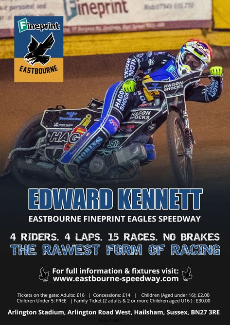 Edward Kennett- Eastbourne Fineprint Eagles Speedway
