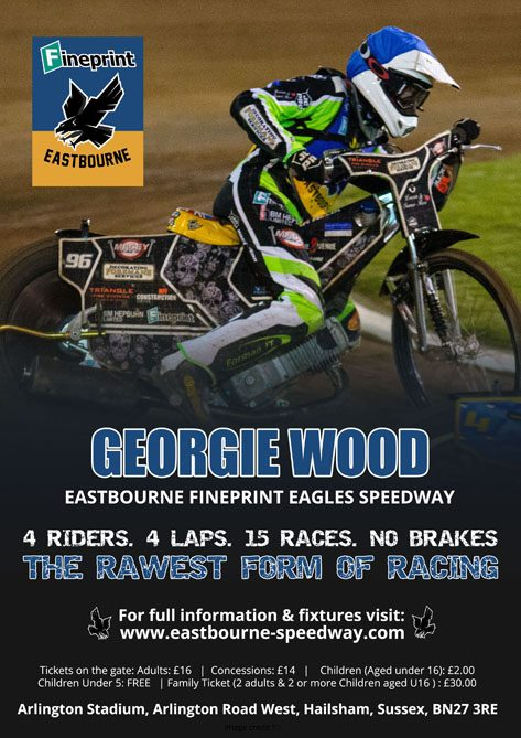 Georgie Wood- Eastbourne Fineprint Eagles Speedway