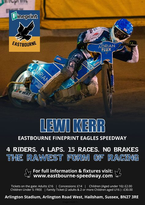 Lewi Kerr_ Eastbourne Fineprint Eagles Speedway
