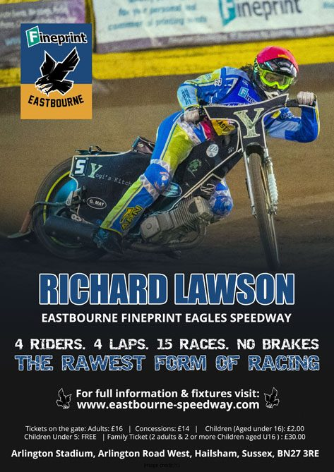 Richard Lawson- Eastbourne Fineprint Eagles Speedway