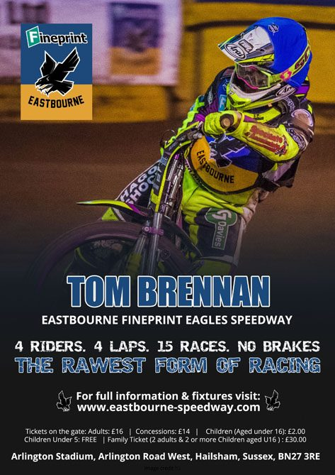 Tom Brennan - Eastbourne Fineprint Eagles Speedway