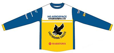 Eastbourne-Eagles-Speedway-Merchandise-Long-sleeve-TShirt-Front