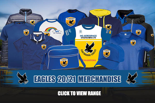 Eastbourne Eagles season 2020 and 2021 merchandise